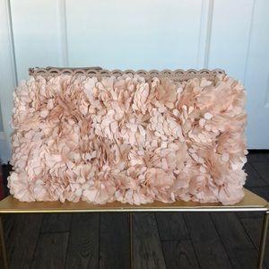 New Stella & dot Pink floral pom clutch